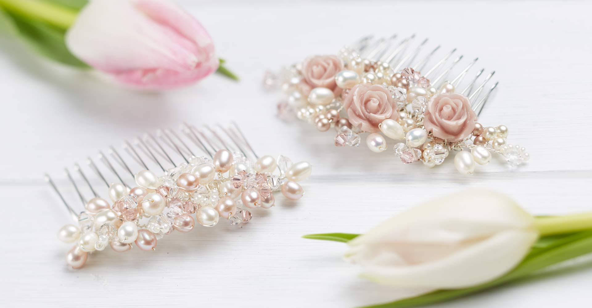 wedding accessories: handmade veils, lace boleros, jewellery and hair accessories